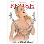 Зажимы на соски  Fetish Fantasy Series Rock Hard Nipple Clamps - Silver, 3624-26